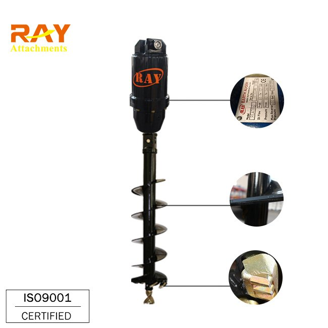 REA5000 model hydraulic Earth Auger drilling