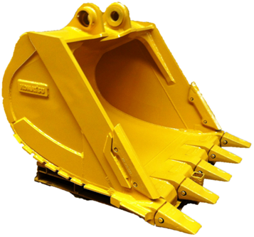 solid steel excavator ditching bucket