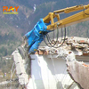 Hydraulic concrete pulverizer shear for excavator used