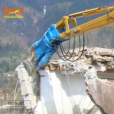 Hydraulic demolition concrete shear for excavator used