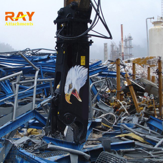 Hydraulic scrap metal shears for excavator used/scrap sheet cutting scrap