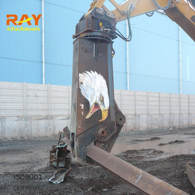 Hydraulic excavator concrete pulverizer shear for construction