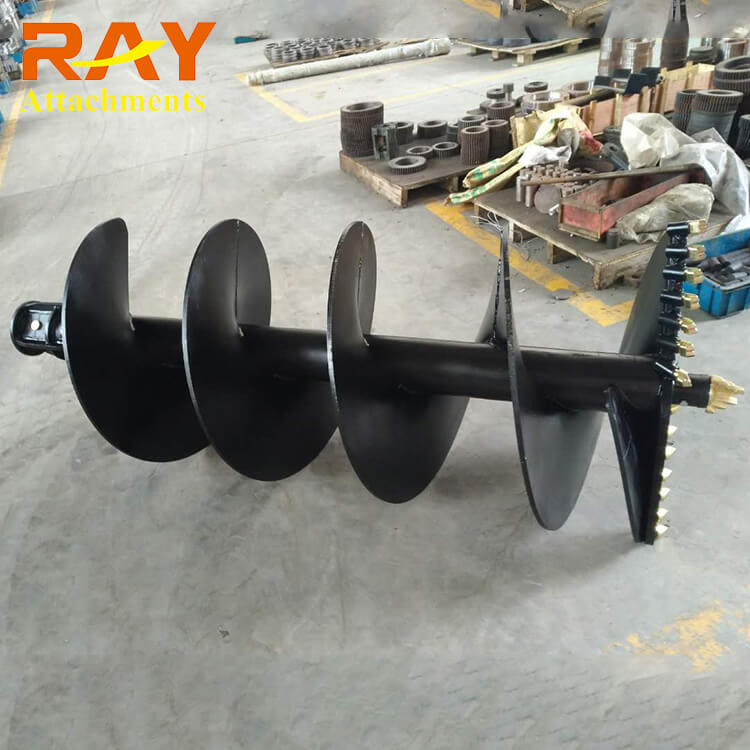 REA2000 model hydraulic Earth Auger drilling