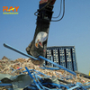 Hydraulic scrap metal shear cutter for excavator used