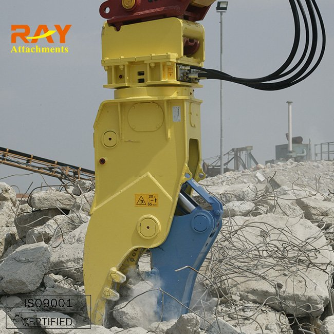 Hydraulic concrete pulverizer steel shear for excavator used