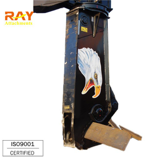 Hydraulic crawler metal steel cutting shear for excavator used