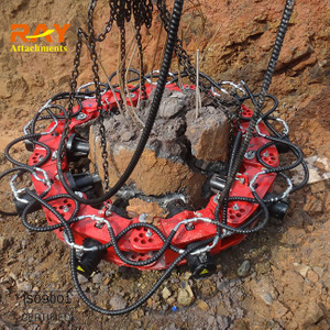 construction site equipment hydraulic concrete pile cutter