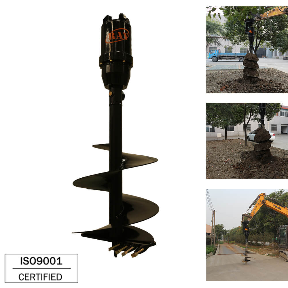 REA7000 model hydraulic Earth Auger drilling