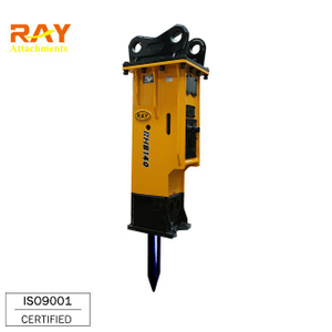 Hydraulic excavator rock hammer breaker for breaking